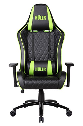 41HnXVivs9L - HULLR-Gaming-Racing-Computer-Office-Chair-Executive-High-Back-Diamond-Quilted-Ergonomic-Reclining-Design-with-Detachable-Lumbar-Backrest-Headrest-PC-PS4-XBOX-Laptop-BlackGreen