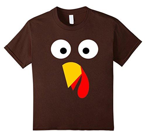 Kids Turkey Costume Shirt Thanksgiving Outfit For Kids Men Women 4 (Child Turkey Costume)