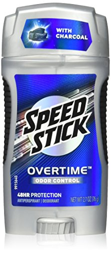 Speed Stick Gear Overtime Odor Control Antiperspirant/Deodorant with Charcoal, 2.7 Oz. (Pack of 2)