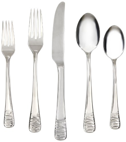 (Cambridge Silversmiths Reese Mirror 20-Piece Flatware Set, Service for 4)