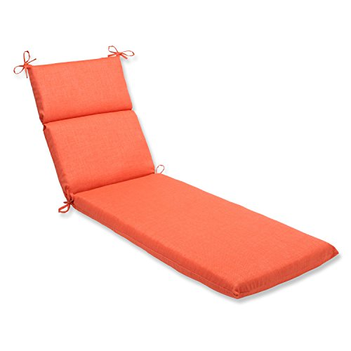 Pillow Perfect Outdoor/Indoor Rave Coral Chaise Lounge Cushion