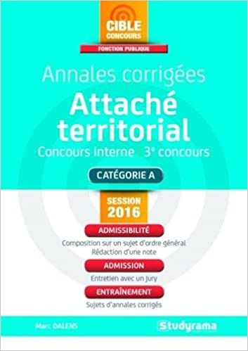 Télécharger en ligne Annales corrigées attaché territorial pdf epub