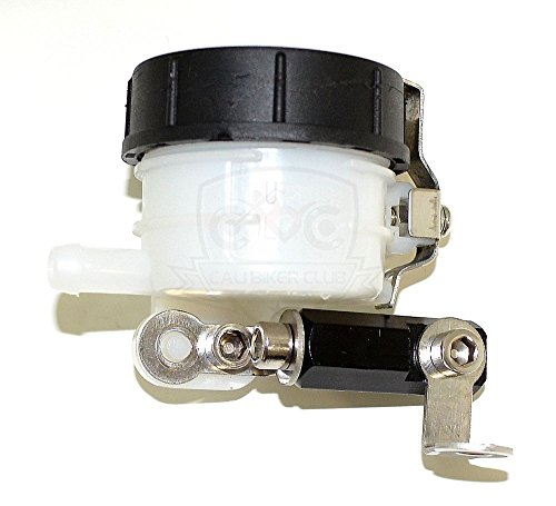Slim Front Brake Reservoir Fluid Bottle Master Cylinder Kawasaki Ninja ZX Suzuki GSXR GSX-R SV Yamaha YZF R1 R6 ()