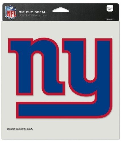 NFL New York Giants Die-Cut Color Decal, 8