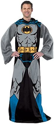 "DC Comics Batman, ""Batman in Black"" Adult Soft Throw Blanket with Sleeves, 48"" x 71"","