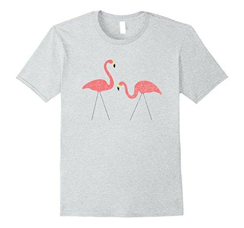 Mens Retro Pink Plastic Flamingos Vintage Style T-Shirt X...