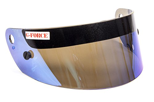 - G-FORCE Racing Gear G-Force Profit Mirror Blue Helmet Shield P/N 8605