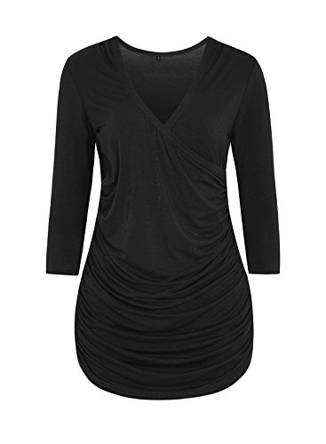 ASHMITA Womens Sleeve Ruched Blouse