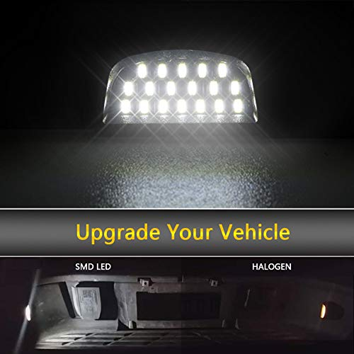 GemPro 2Pcs LED License Plate Light Lamp Assembly for Chevy Silverado 1500 2500 3500 Suburban Tahoe GMC Sierra 1500 2500 3500 Cadillac Escalade Yukon XL Powered by 18SMD Xenon White LED Lights