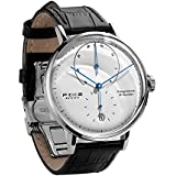 FEICE Bauhaus Watch Men's Mechanical Watch Analog Waterproof Automatic Watches for Men Casual Dress Watches with Domed Mirror Leather Bands Date -FM202