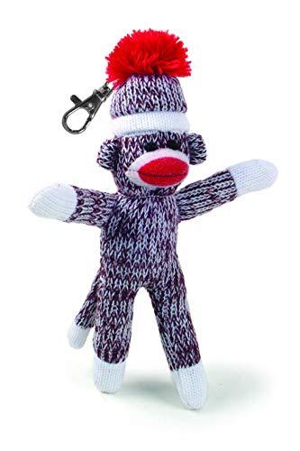 Pennington Bear Company The Original Sock Monkey Key Chain, Hand-Knit, Plush Material, 4