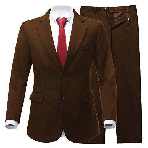 Brown 3 Button Suit - 7