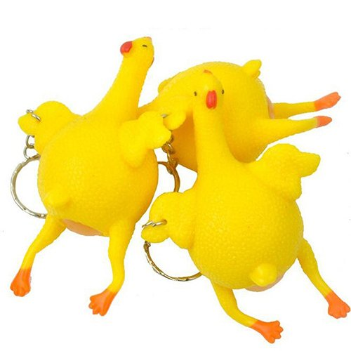 lightclub Personalized Funny Creative Egg Laying Plucked Bald Chicken Ball Stress Relief Reliever Halloween Toy -