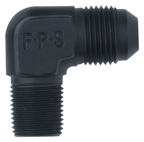 Fragola 482206-BL Black Size (-6) x 1/4' MPT 90° Adapter Fitting