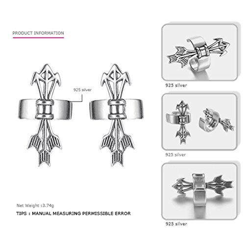 SuperLouisa Fashion Authentic 925 Sterling Silver Earrings And Men Cilp Earrings Casual&Sporty Costume Jewelry combination
