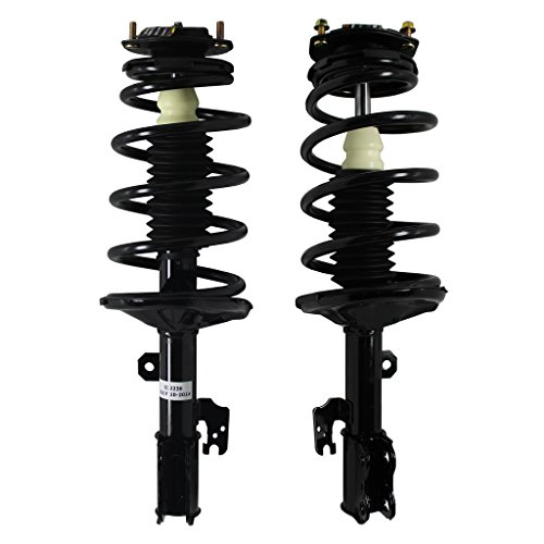 Front - Both (2) New fits [ 2005-2010 Toyota Sienna FWD 7 Passenger] Front Driver & Passenger Side Complete Strut & Spring Assembly -