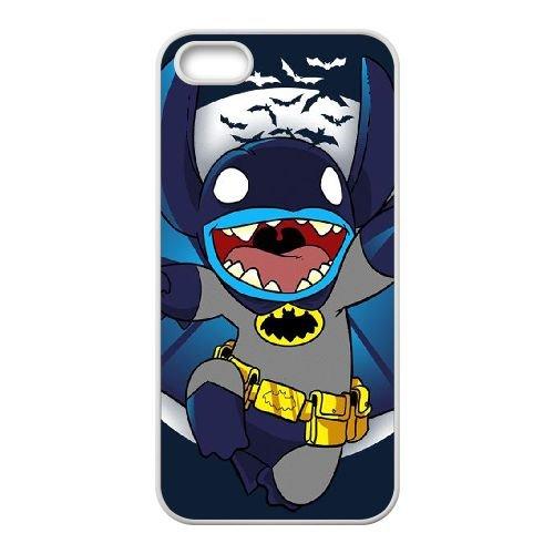 Batman coque iPhone 5 5S Housse Blanc téléphone portable couverture de cas coque EBDOBCKCO10108