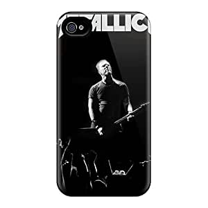 Scratch Resistant Hard Phone Covers For Iphone 4/4s With Support Your Personal Customized Beautiful Metallica Pattern KennethKaczmarek
