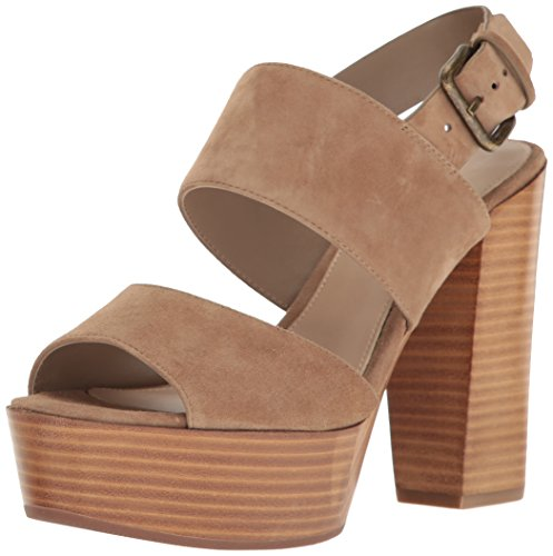 Aldo Women's Maximoa Platform Dress Sandal, Taupe, 7.5 B US