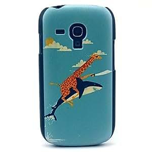 JJEThe Giraffe and The Dolphin Pattern Hard Case for Samsung Galaxy S3 Mini I8190