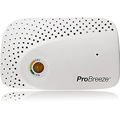 .com - Pro Breeze Renewable Cordless Mini Dehumidifier – for Small Spaces - Gun Safe, Wardrobe, Cabinets and Closets – Non-Toxic Rechargeable Dehumidifier - [5Bkhe0905752]