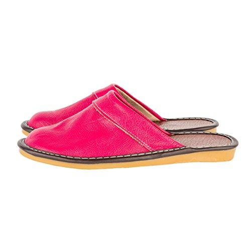 w de rosa Piel mujer roja Haisum Zapatillas Tb008 para por Sintética estar de casa R0xna5qFwg