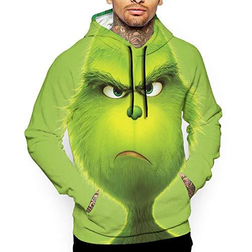 POOPEDD The-Grinch-Stole-Christmas 3D Printed Men's Hoodie Sweatshirt XL ()