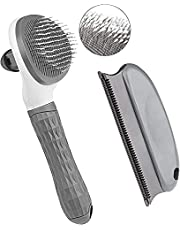 Cat Brush and Dog Brush, Cat Brush for Shedding and Grooming with Long or Short Hair Self Cleaning Slicker Brush