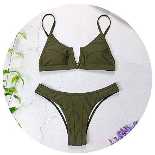 (Colorful-World Sexy Bikinis V Neck Bikini Swimsuits Push Up Swimwear Female Bikini Set Bathing Suits 3418,No 9,L)