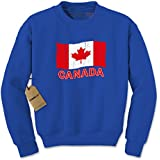 Expression Tees Crew Canada Flag Adult Large Royal Blue