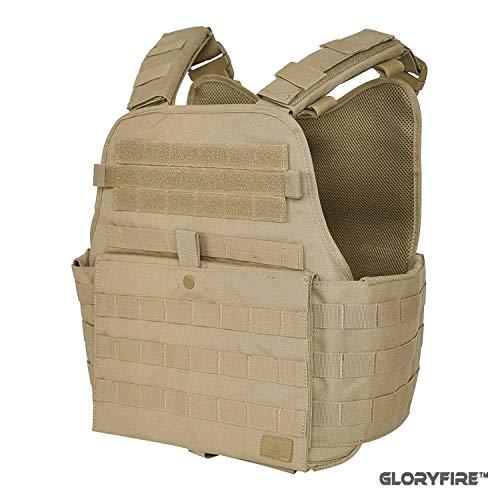 GFIRE Tactical Vest Modular Vest Breathable Combat Training Vest Adjustable Lightweight (Tan1)