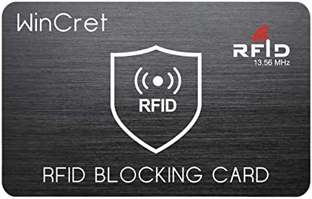 WinCret RFID Bloqueo de Tarjeta - 1 Tarjeta Protege Toda tu ...