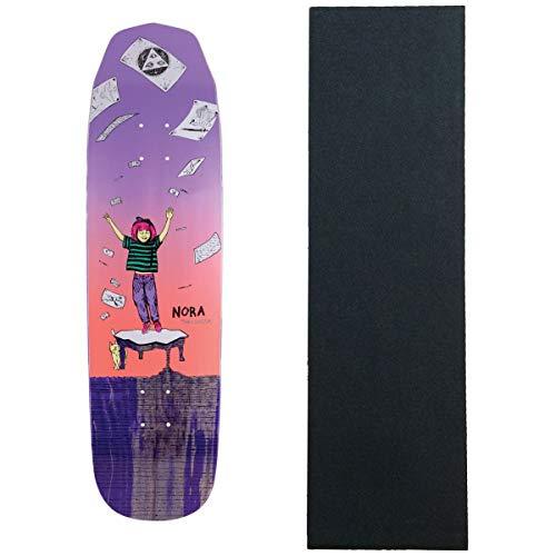 共和党歌夢WELCOME スケートボードデッキ ノラ マジルダ ウィックド プリンセス ブルー 8.125インチ グリップ付き