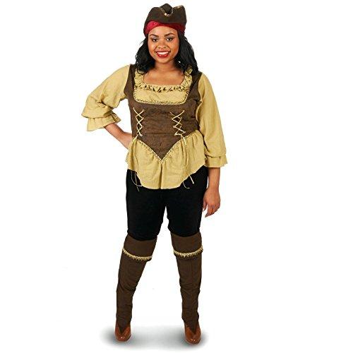 Renegade Pirate Queen Adult Plus Costume 1X (Pirate Queen Costume)