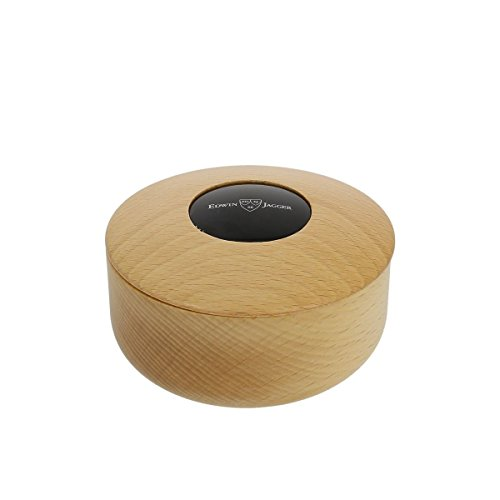 Beechwood Shaving Soap Bowl - EDWIN JAGGER BEECH WOOD SHAVING SOAP BOWL WITH IMITATION EBONY INSERT - RN306 by Edwin Jagger