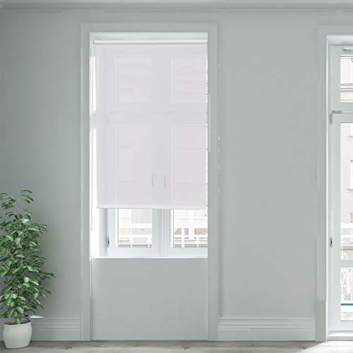 Giantex 20″x60″ Semi-Shut Roller Blind Sunscreen Sun Shade Window Bedroom (20″x60″, White)