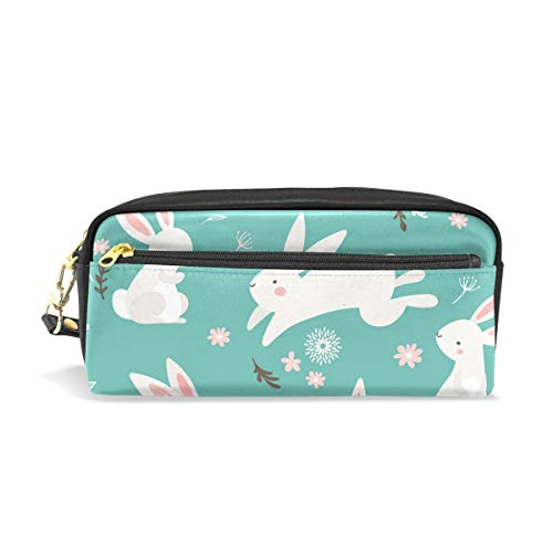 School Pencil Bag Easter Bunny Rabbit Pen Case Stationery Pouch Bag Holder Cosmetic Makeup Bag