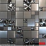 SAMPLE- Unique Stainless Steel Pattern Mosaic Tile Kitchen Backsplash Bath wall by Unknown