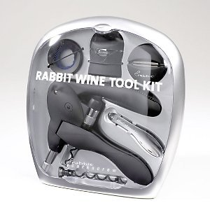 Rabbit Corkscrew 6 Piece Wine Kit - (Metrokane 6 Piece)