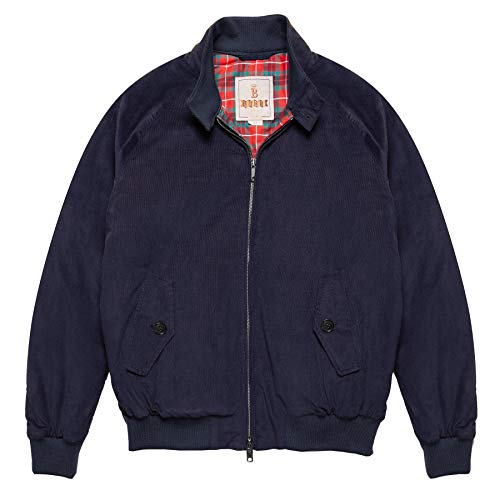 Baracuta G9 Winter Cord Authentic Fit Jacket Small Navy from Baracuta