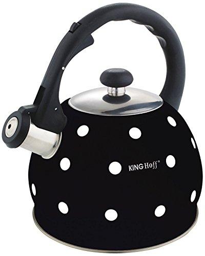 2 litri Bollitore a fischio Whistling Kettle Caraffa per acqua Teiera Bollitore Schwaz Kinghoff