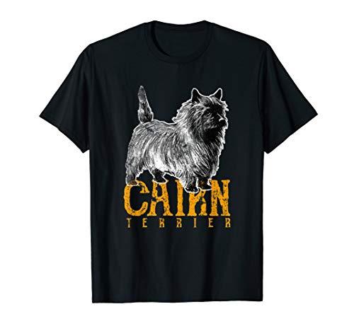 Cairn Terrier Silhouette T-Shirt Cute Dog Trainer ()