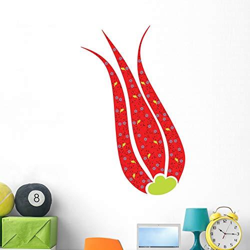 Wallmonkeys Red Ottoman Tulip Flower Wall Mural Peel and Stick Vinyl Graphic (48 in H x 41 in W) WM525892