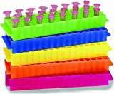 80-Well Microtube Rack Assorted Colors, 5/PK