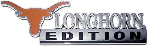 Ncaa Chrome Auto Emblem - NCAA Collegiate Edition ABS Molded Chrome Auto Emblem (Texas Longhorns)