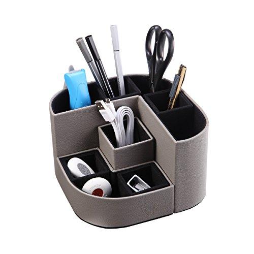 Vlando VPACK Magnet Desk Organizer Pen Holder - Office Supplies Desktop Stationery Gadgets Holder Storage Box (Pebble (Gray Desk Accessories)