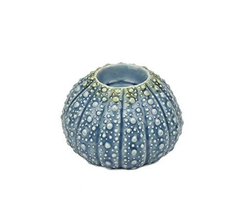 Ceramic Urchin Tealight Holder,Blue