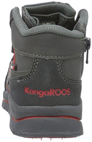 KangaROOS Murino - Zapatillas Unisex Niños Gris - Grau (Dk Grey/flame red 266)