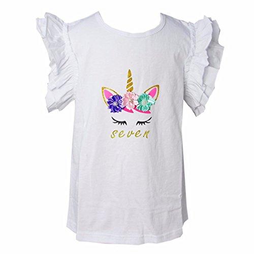 - Kirei Sui Girls Birthday Unicorn Icing Shirt 7 Unicorn