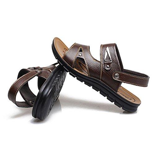 per Brown toe all'aperto open 3 adatti il EU scarpe al e libero 2 Brown tempo chiuso casual da 42 uomo Color per Sandali Xiaoqin Size 0wzUq